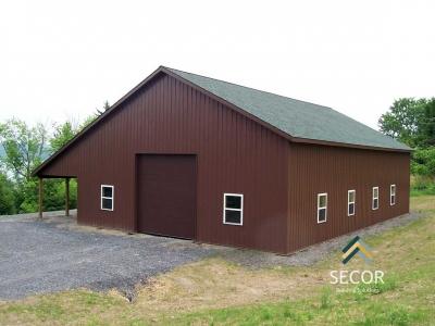 agricultural farm post frame pole barn building design construction ny