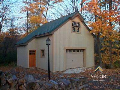 residential garage post frame pole barn building design construction ny