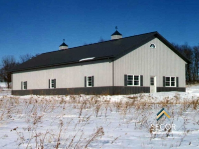 commercial post frame pole barn building design construction ny